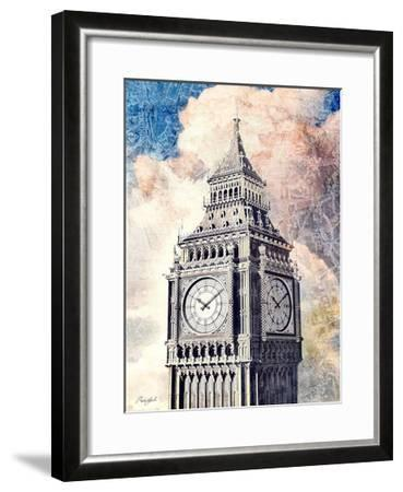 Distressed London-Roozbeh-Framed Art Print