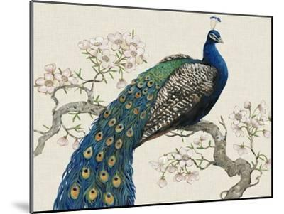 Peacock and Blossoms I-Tim O'toole-Mounted Art Print