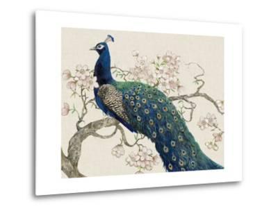 Peacock and Blossoms II-Tim O'toole-Metal Print