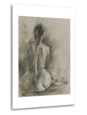 Charcoal Figure Study I-Ethan Harper-Metal Print