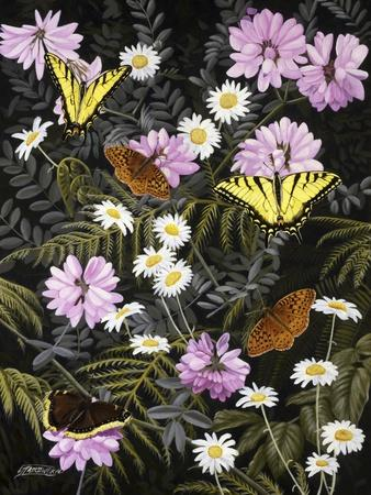 Tapestry of Butterflies-Fred Szatkowski-Framed Art Print