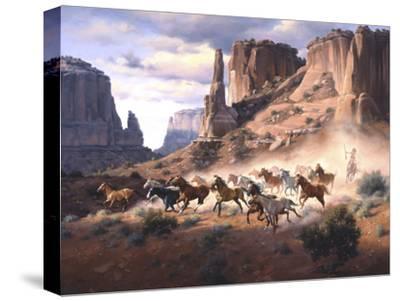 Sandstone and Stolen Horses-Jack Sorenson-Stretched Canvas Print