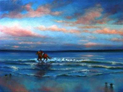 Wave Racing 2013-Lee Campbell-Framed Giclee Print