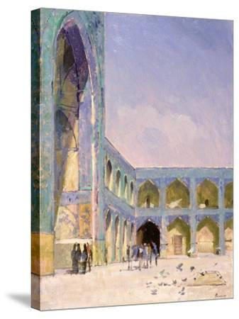 Midday, Friday Mosque, Isfahan-Bob Brown-Stretched Canvas Print