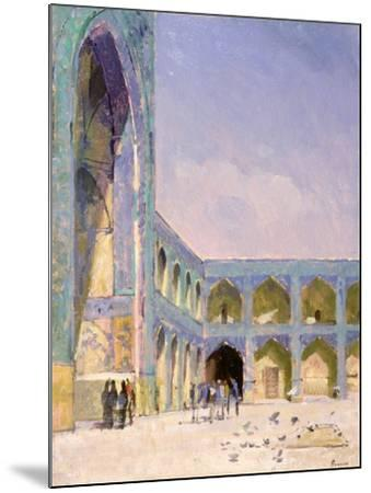 Midday, Friday Mosque, Isfahan-Bob Brown-Mounted Giclee Print