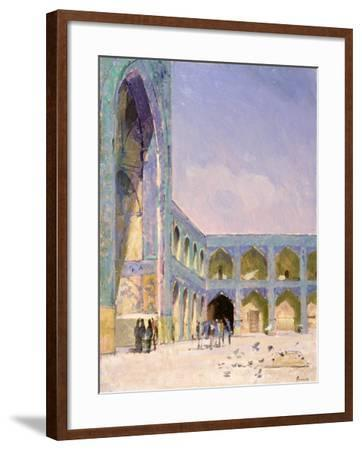 Midday, Friday Mosque, Isfahan-Bob Brown-Framed Giclee Print