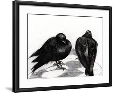 Serious Pigeon Situation, 2012-Nancy Moniz-Framed Giclee Print