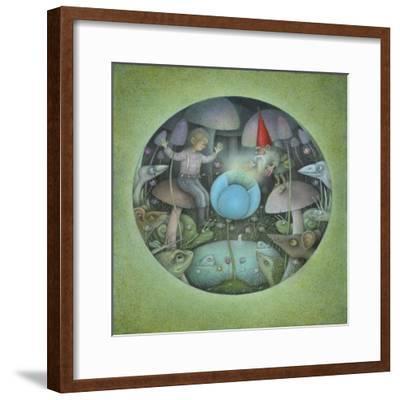 The Blue Flower-Wayne Anderson-Framed Giclee Print