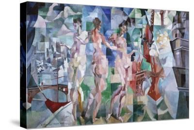 La ville de Paris-Robert Delaunay-Stretched Canvas Print