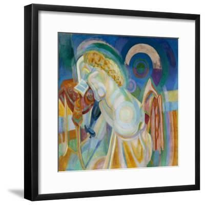 Nu à la coiffeuse-Robert Delaunay-Framed Giclee Print