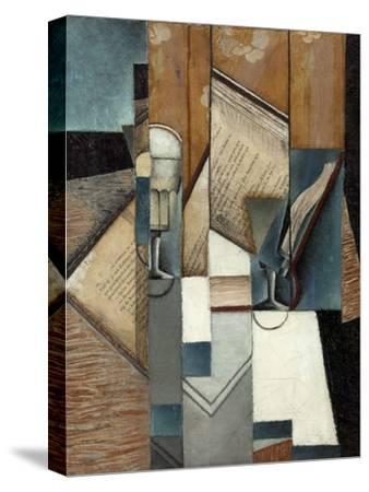 Le livre-Juan Gris-Stretched Canvas Print