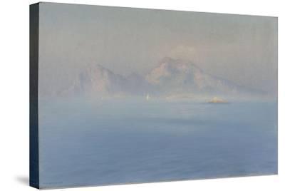 Capri, côte escarpée vue de la mer-Henry Brokman-Stretched Canvas Print