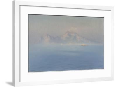 Capri, côte escarpée vue de la mer-Henry Brokman-Framed Giclee Print