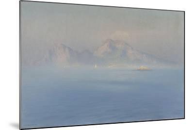 Capri, côte escarpée vue de la mer-Henry Brokman-Mounted Giclee Print