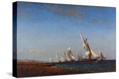 Rentrée des pêcheurs à Martigues-Ziem Félix-Stretched Canvas Print