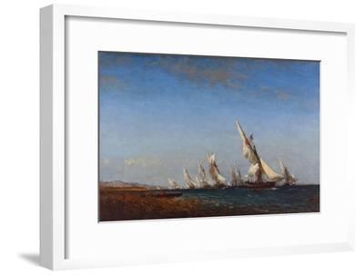 Rentrée des pêcheurs à Martigues-Ziem Félix-Framed Giclee Print