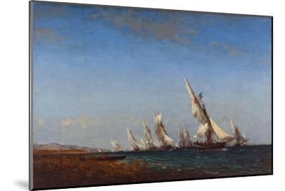 Rentrée des pêcheurs à Martigues-Ziem Félix-Mounted Giclee Print