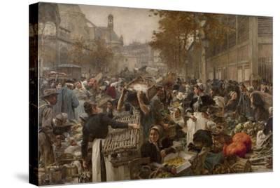 Les Halles-L?on Lhermitte-Stretched Canvas Print