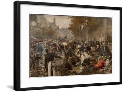 Les Halles-L?on Lhermitte-Framed Giclee Print