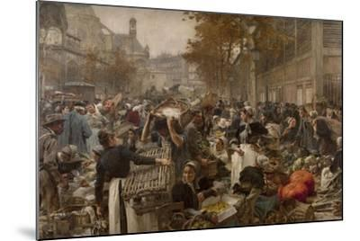 Les Halles-L?on Lhermitte-Mounted Giclee Print