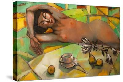 Portrait of Nude Female-Lilun-Stretched Canvas Print