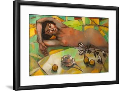 Portrait of Nude Female-Lilun-Framed Art Print