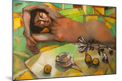 Portrait of Nude Female-Lilun-Mounted Art Print