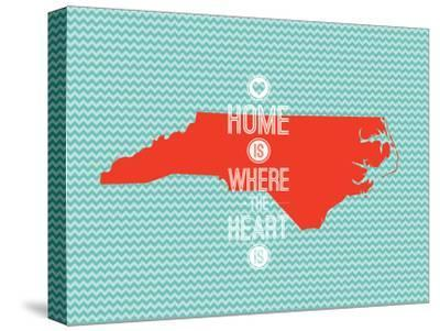 Home Is Where The Heart Is - North Carolina--Stretched Canvas Print
