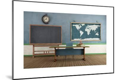 Retro Classroom without Student-archidea-Mounted Art Print