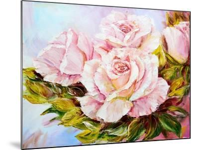 Beautiful Roses, Oil Painting on Canvas-Valenty-Mounted Art Print