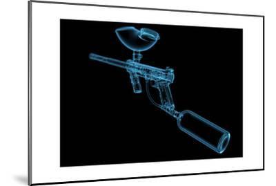 Paintball Gun (3D Xray Blue Transparent)-sauliusl-Mounted Art Print