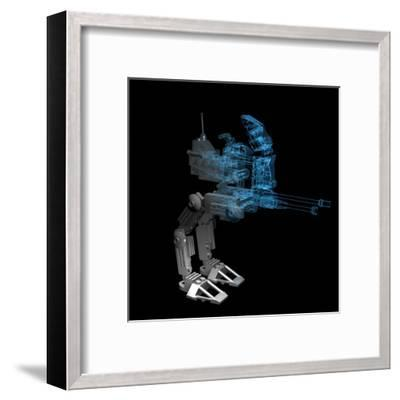 Robot-sauliusl-Framed Art Print