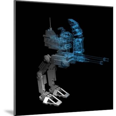 Robot-sauliusl-Mounted Art Print