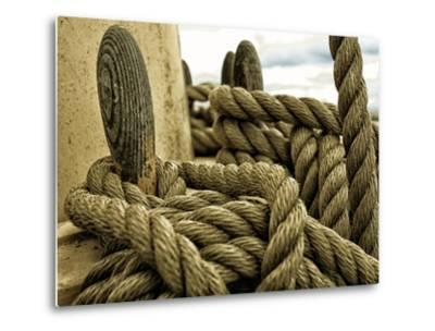 Yachting. Parts of Yacht. Nautical Ship Rope.-Voy-Metal Print
