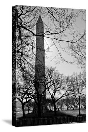 Washington Monument Black and White DC--Stretched Canvas Print