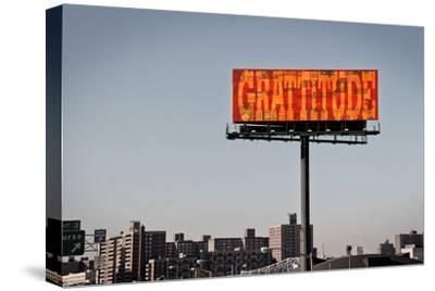 Gratitude Billboard in NYC--Stretched Canvas Print
