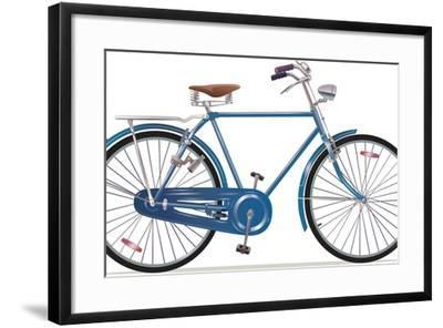 Old Style Retro Bicycle-Leks-Framed Art Print