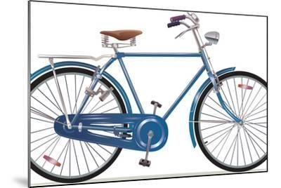 Old Style Retro Bicycle-Leks-Mounted Art Print