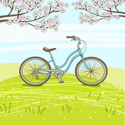 Vintage Bicycle-lolya1988-Framed Art Print
