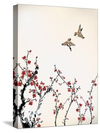 Ink Winter Sweet-baoyan-Stretched Canvas Print