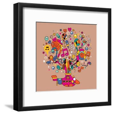Submarine-Alias Ching-Framed Art Print