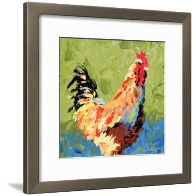 Rooster II-Leslie Saeta-Framed Art Print