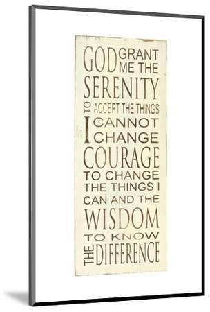 Serenity Prayer-Holly Stadler-Mounted Art Print