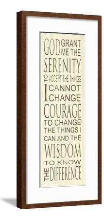 Serenity Prayer-Holly Stadler-Framed Art Print