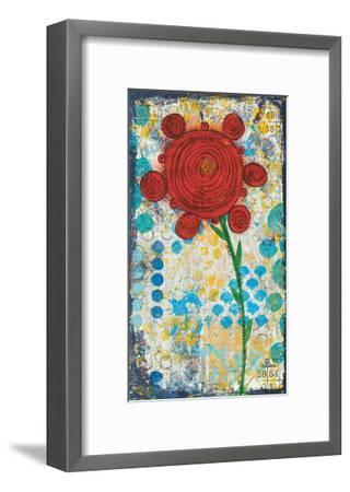 Abstract Floral-Cassandra Cushman-Framed Art Print