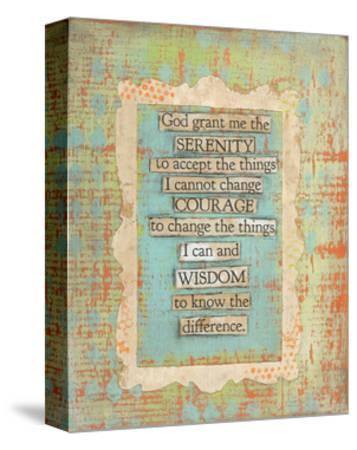 Serenity Prayer-Cassandra Cushman-Stretched Canvas Print
