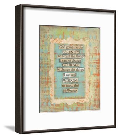 Serenity Prayer-Cassandra Cushman-Framed Art Print