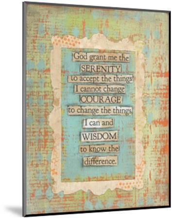 Serenity Prayer-Cassandra Cushman-Mounted Art Print