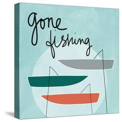 Gone Fishing-Linda Woods-Stretched Canvas Print