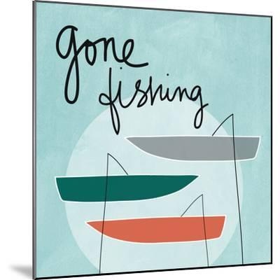 Gone Fishing-Linda Woods-Mounted Premium Giclee Print